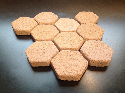 Brightwell REEF HeXiDiscs - Hexagonal Discs for Frag Mounting 100/pk