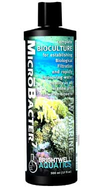Brightwell MicroBacter7 - Complete Bioculture for Marine and FW Aquaria 500 ml