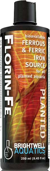 Brightwell Florin-Fe Ferrous & Ferric Iron for Planted FW Aquaria 250 ml /8.5 fl. oz.