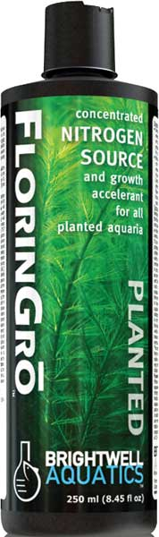 Brightwell Florin-Gro Nitrogen Fertilizer for Planted FW Aquaria 250 ml /8.5 fl. oz.