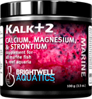Brightwell Kalk+2 - Advanced Kalkwasser Supplement w/Calc., Stron., Mag. 225 g. / 7.9 oz.