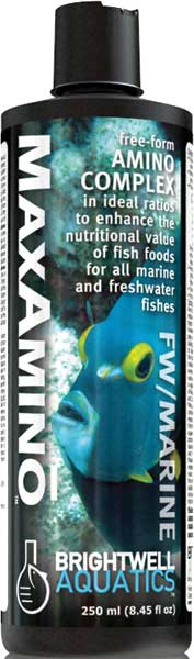 Brightwell MaxAmino Free-Form Amino Complex for Enhancing Fish Foods 250 ml /8.5 fl. oz.