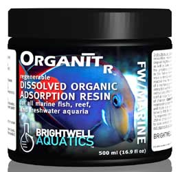 Brightwell OrganitR - Regenerable Organic (Dissolved) Material-adsorption Resin for all Aquaria 500 ml
