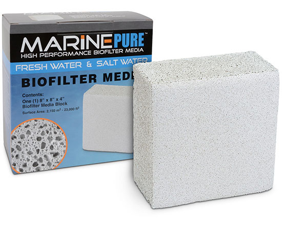 "MarinePure High Performance Ceramic Biofilter Media - 8"" x 8"" x 4"" Block"
