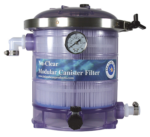 Nu-Clear 533 Canister Filter w/30 sq ft cartridge, carbon, & gauge