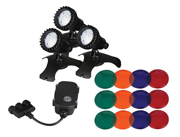 Supreme Pondmaster 3 LED Pond Lights w/Transformer