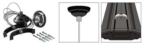 Wave Point Hanging Kit - For 4 Lamp Fixtures