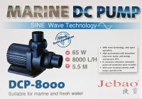 Jebao DCP-8000 DC Submersible Pump w/ SINE Wave Technology