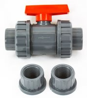 PVC True Union Ball Valves 1""