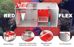 "Pro Clear RED FLEX 4 in 1 Sump 100 - 16""x16""x16"""